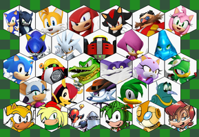 SSB4 Sonic Series Roster by The-Koopa-of-Troopa
