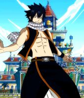 Fairy Tail - Gray With Natsu's clothes Omake by lWorldChiefl