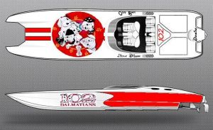 102 Dalmatians Supercat Boat by rocketlucky