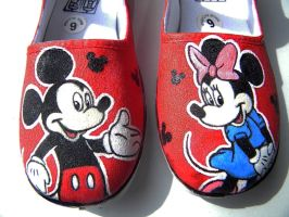 Mickey Minnie shoes by Miss-Melis