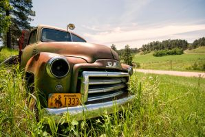 Retired Truck in the Hills of South Dakota by Bawwomick