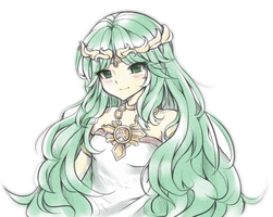 Palutena Doodle by Midna01