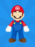 Mario [iPad Wallpaper] by adamjamescooper