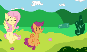 A nice day in ponyville by Sketchstar-mids-sis