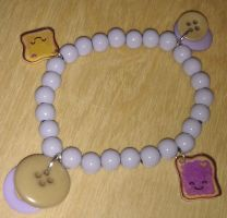 Peanut Butter Jelly Time Bracelet by Lovelyruthie