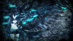 Wallpaper ~ Black Rock Shooter. by Mackaged