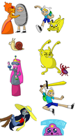 Adventure Time stickers 1 by Friggo-Glicker