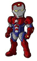 Chibi Iron Patriot by GuyverC