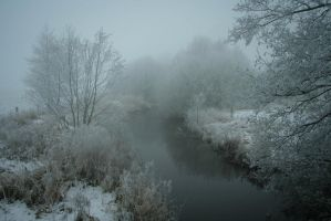 Winter river by SashaBels