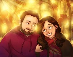 Becca and DJ Commission by autogatos
