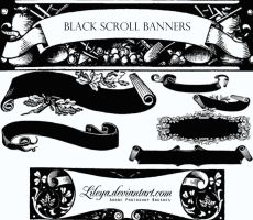 Black Scroll Banners by Lileya