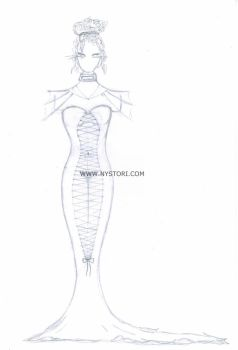 Constricted Dress by Nystori