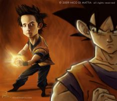 Goku vs. Goku by macpulenta