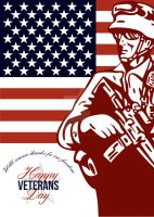 Veterans Day Modern American Soldier Card by apatrimonio