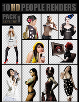 PEOPLE RENDERS PACK 1 ~ HD by SkyLinee