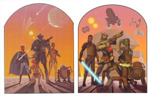Vintage Style McQuarrie Rebels Poster Comparison by Brian-Snook