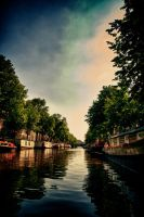 Canals of Amsterdam HDR by scwl