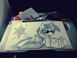 Quick in-flight drawing by Kaboderp-sketchy