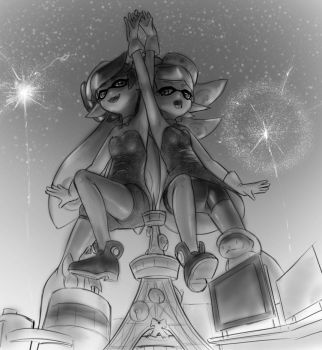 Callie and Marie by AlloyRabbit