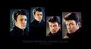 Painted Portraits: Nathan Fillion by GhostLinz