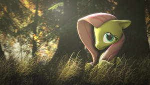 generic_fluttershy_in_forest_no._249472 by DigitalSyntax