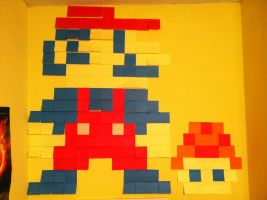 Sticky Note Mario by forever--yours