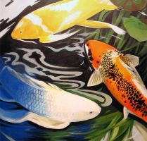 Koi Painting by buraisuko