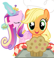 Applejack and Princess Cadence by Fluttershy-12