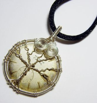 Wire Wrap Steampunk Tree of Life Pendant by Create-A-Pendant