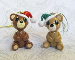 Christmas Teddy Bears by DragonsAndBeasties
