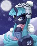 Commission: Icy Pony Portrait by steffy-beff