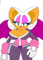Rouge Sonic Heroes Outfit (Flat Colors) by dreamcastzx