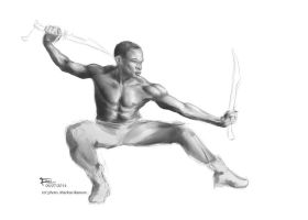 Fight pose shading study by einar036