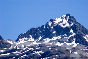 NZ Snow capped peak blurry by Chunga-Stock
