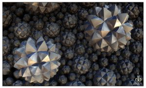 Digital Pine Cones by bluefish3d
