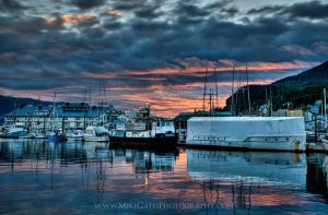 Sunset over Thomas Basin II 05/28/15 by Muskeg