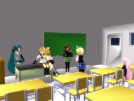 [MMD Stage] Classroom DL by lono666