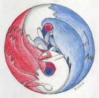 Latios and Latias Yin and Yang
