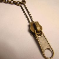 Giant Zipper Pull Necklace by SteamSociety