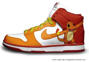 Charmander Nike Dunks by Houggiebear
