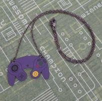 Gamecube Controller Necklace by PlayBox-Designs