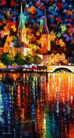The lights of history by L.Afremov by Leonidafremov