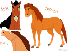 TLK horses by coolrat