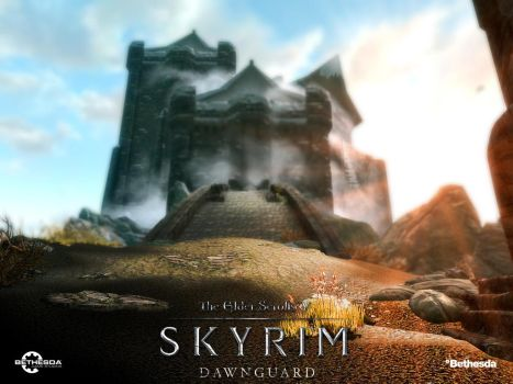 The Elder Scrolls V : Skyrim Poster Dawnguard DLC by ArtBasement