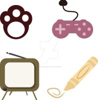 .: Console Kitty Icons :. by Chocobo-xiii