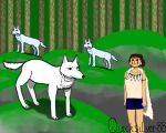 Princess Mononoke and Wolves by Quicksilver-88