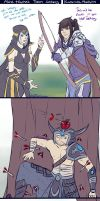 Ashe teaches Talon archery by RuneScratch