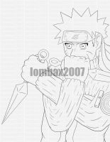 naruto lineart by Lombax2007