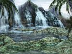 Waterfall Oasis by HarleyBliss