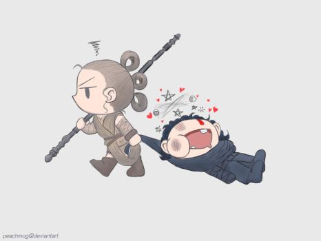Chibi Reylo by peachmog